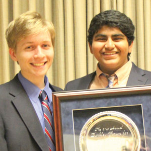 Westminster team wins policy debate