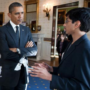 Google Science Fair finalist meets President Obama