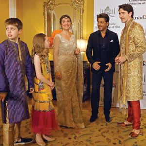 THE TRUDEAUS GO TO INDIA