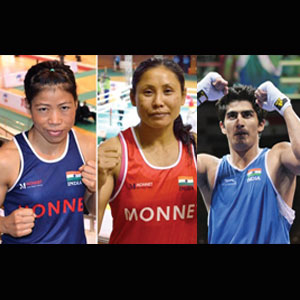 Good Sports: BOXERS READY TO SHOW THEIR MEDAL