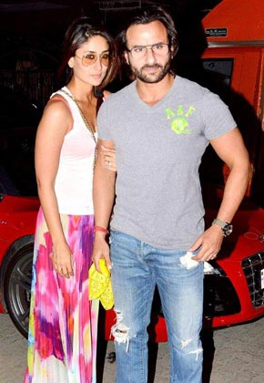 Saif, Kareena star attraction at Kunal Khemu's birthday bash