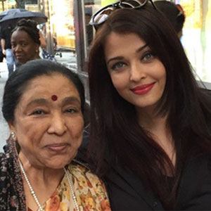 Asha Bhosle bumps into her 'favorite' Aishwarya Rai in New York
