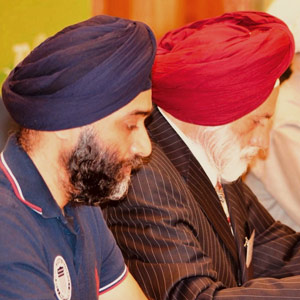 Two Sikhs at World Council of Churches dialogue in Geneva
