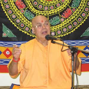 Many benefitted from Swami Adhyatmanandaji's yoga classes