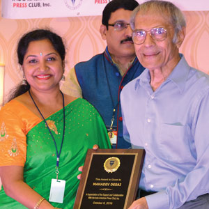 Media award for correspondent Mahadev Desai