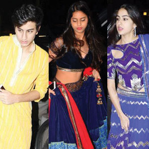 Star kids add sparkle to Big B's Diwali bash