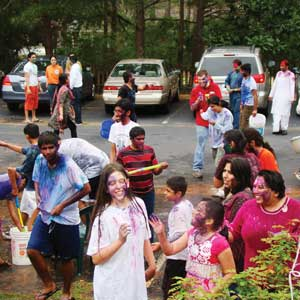 Lively celebration of Holi at Atlanta Vedic Temple