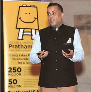 Author Chetan Bhagat speaks on success at Pratham's Atlanta chapter