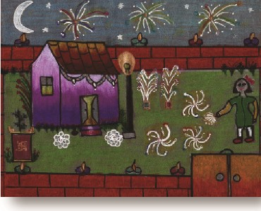 Celebrations: Diwali Drawings 2014