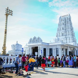 New Year's at Hindu Temple of Atlanta as presidents pass the baton