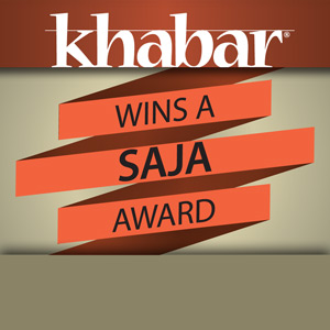 Khabar wins award on a national stage