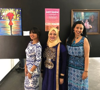 Raksha's art show honors struggles and triumphs of women and girls