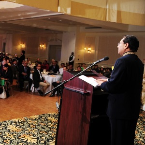 Consul General Kumar announces his departure at India's 66th Republic Day celebrations at Atlanta's Athletic Club