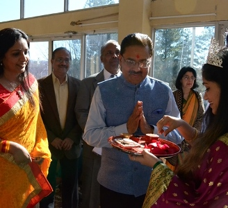 Hindu and Muslim religious leaders come together at IACA's Republic Day celebration