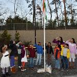 TAMA kids and families salute the Tricolor