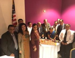 Triple Celebrations at Rotary Club  of Emory Druid Hills