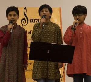 Hindustani, Carnatic, and Bollywood singing at Surabhi School of Music recital