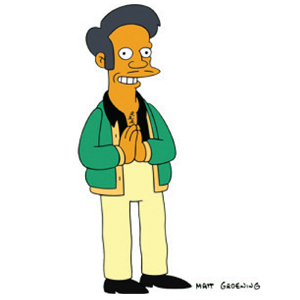 THE VOICE OF APU STEPS AWAY