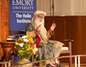 Sadhguru introduces Emory to the Indian way of looking at life