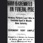 "America's ""first Hindoo funeral"""