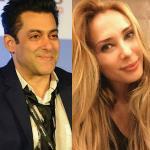 Iulia Vantur plays the hostess at Salman's birthday bash