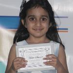 Asmee Sharma wins writing award in kindergarten