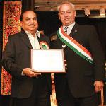 Ramesh Pandya honored for Community Service