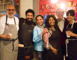 Five celebrated chefs team up for a charity dinner