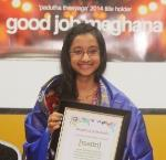 Meghana Pothukuchi's win in national singing competition will be telecast in USA & India