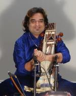 Sarangi artist and local musicians at Param-Shikhar Academy's concert