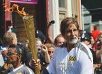 Big B carries the Olympic torch
